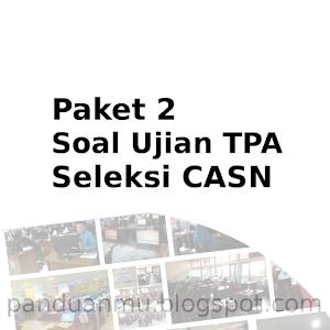 Paket Soal TPA 1 Tes Seleksi Calon Aparatur Sipil negara (CASN)