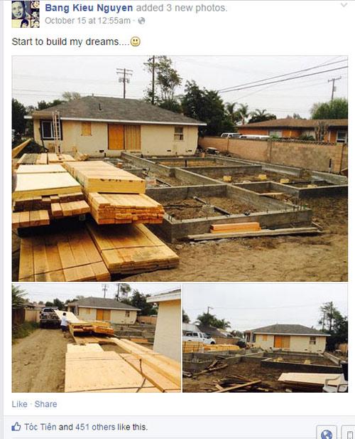 Ngắm nhà gỗ 400m2 đang xây hoành tráng của Bằng Kiều