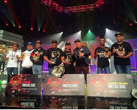 Bocey juara Maharaja Lawak Mega MLM2016, pemenang MLM2016, hadiah pemenang dan juara MLM2016, gambar juara Maharaja Lawak Mega 2016, senarai pemenang MLM2016, keputusan penuh, keputusan rasmi Gelanggang Akhir Maharaja Lawak Mega 2016