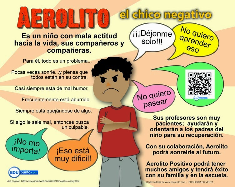 aerolito, negativo, edupunto, actitud, sicologia, escuela