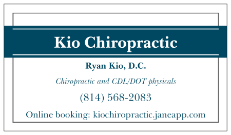 Kio Chiropractic accepting new patients and CDL/DOT physicals