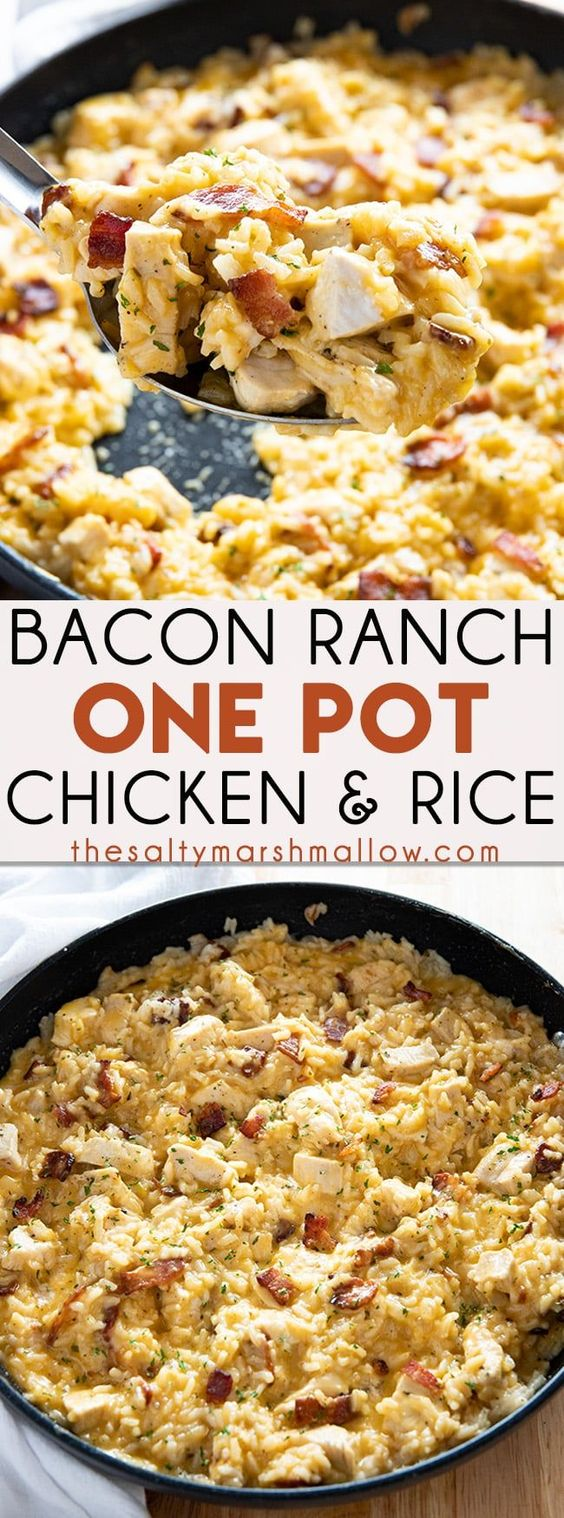 Bacon Ranch One Pot Chicken and Rice