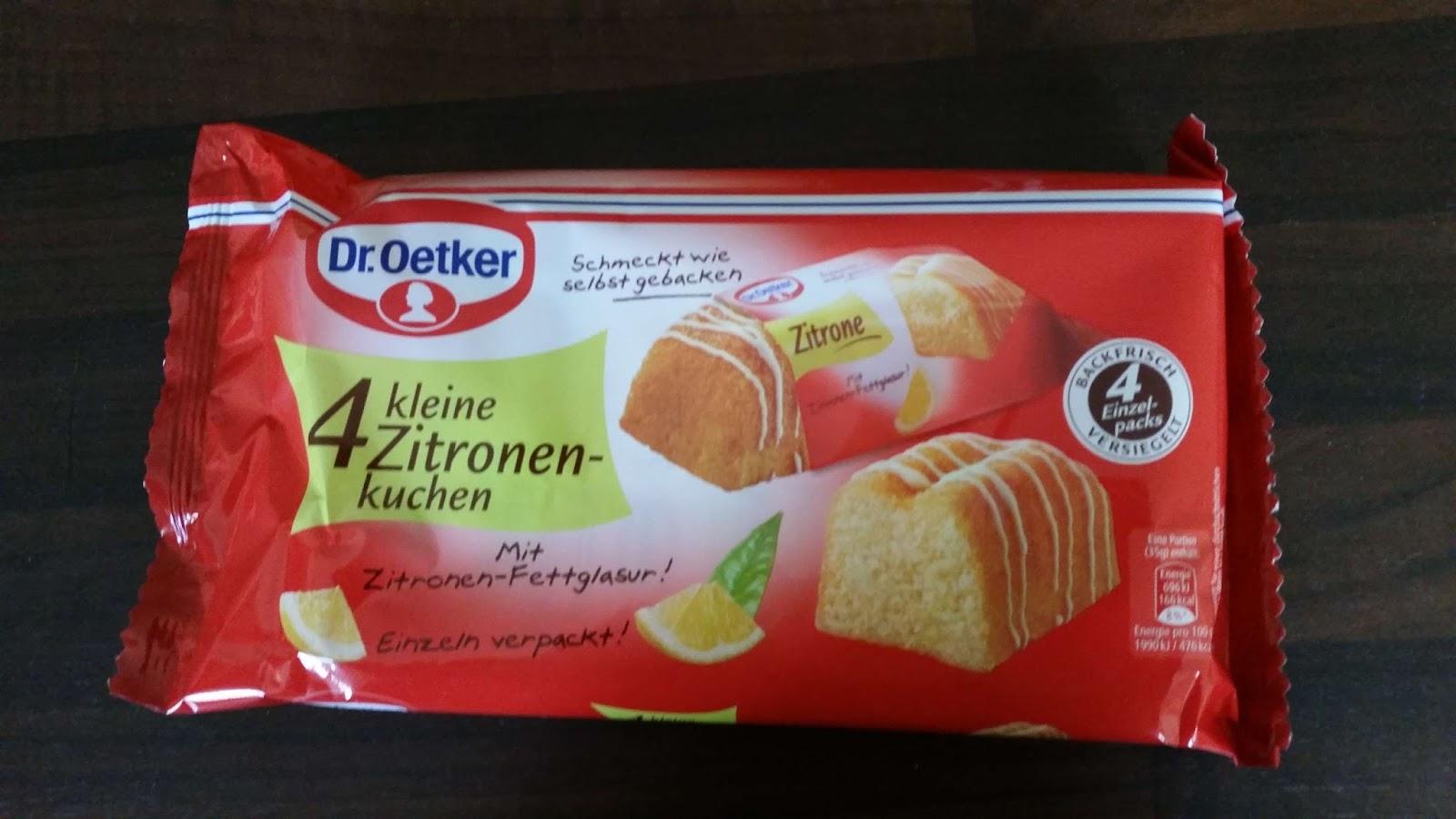 Dr Oetker 4 Kleine Zitronenkuchen Suffis Welt