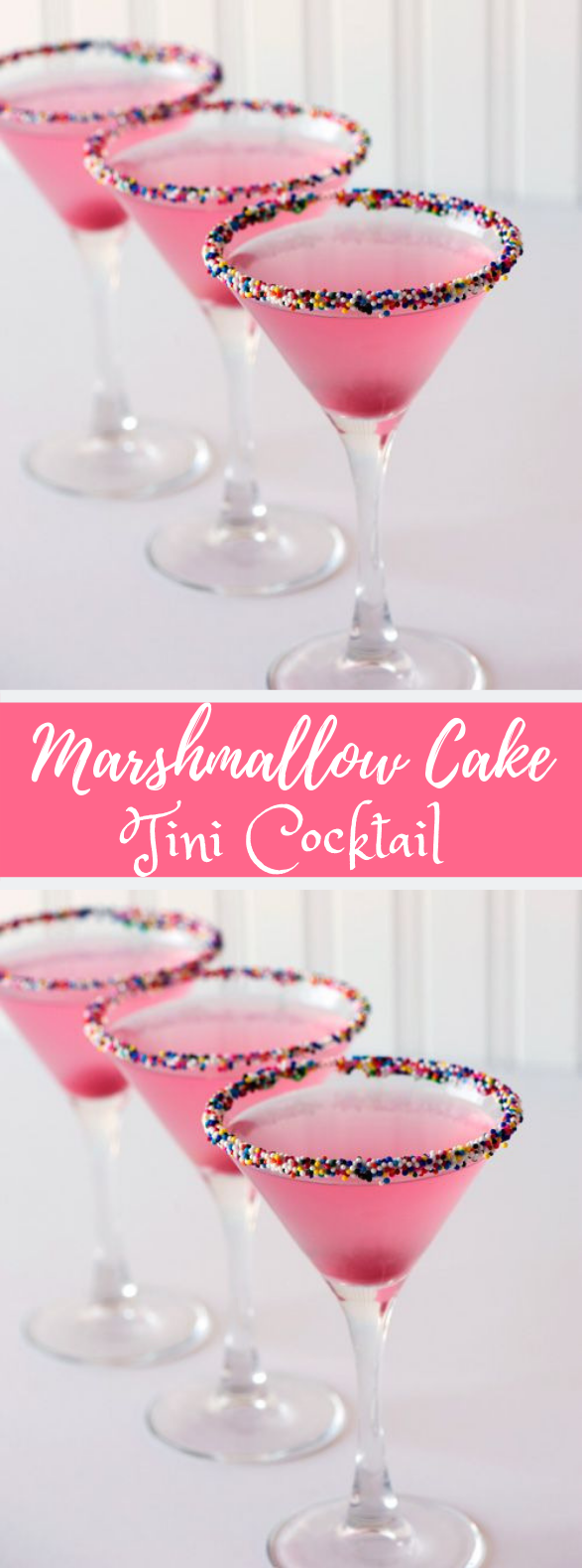 Marshmallow Cake-tini Cocktail #Drink #Party