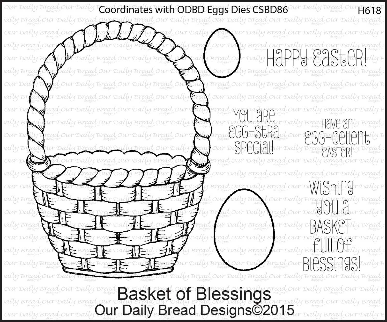 Stamps - Our Daily Bread Designs Basket of Blessings