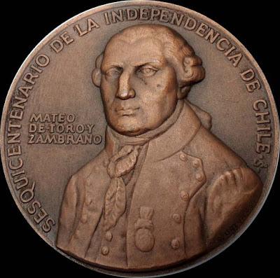 Medalla Mateo de Toro y Zambrano El Conde de la Conquista
