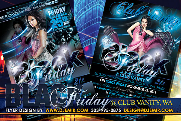 Black Friday Jump Off Flyer Design Tacoma Washington