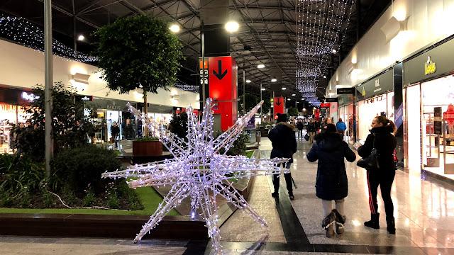Decoración navideña en Megapark