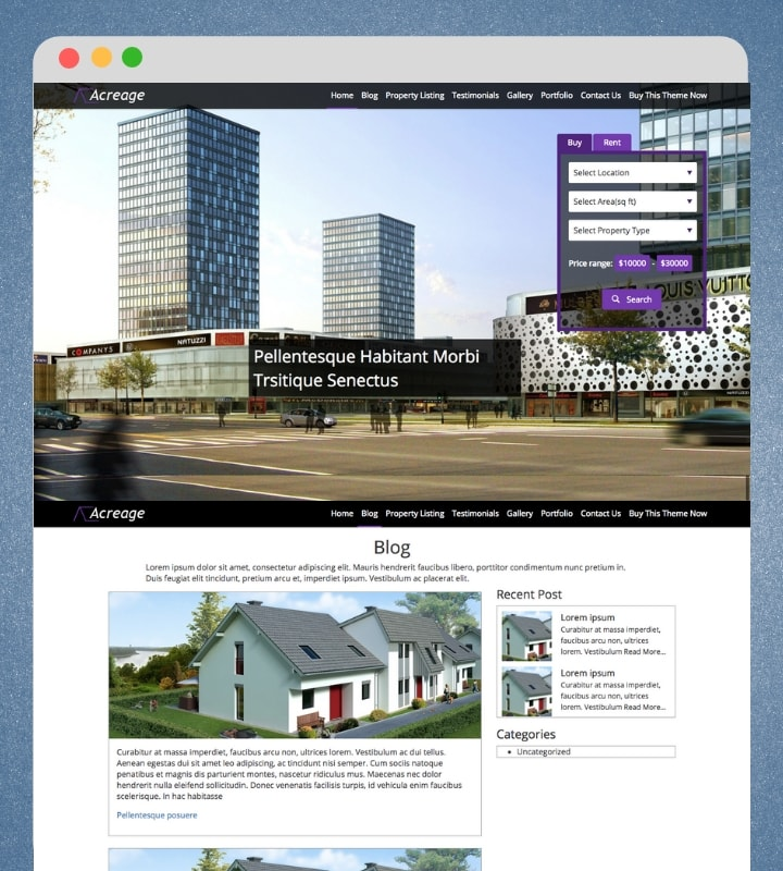 Acreage (Premium Real Estate WordPress Theme)