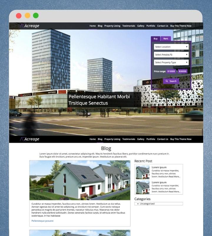 Acreage (Premium Real Estate WordPress Theme)