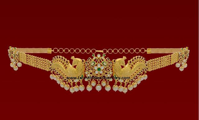 Peacock Kundan Vaddanam