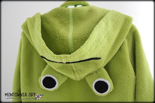 szlafrok dziecięcy z kapturem żaba