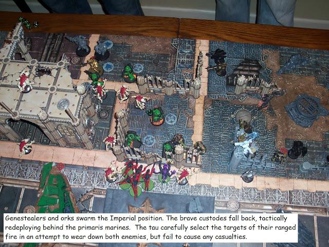 warhammer kill team tyranid space marine ork custodes tau battle report