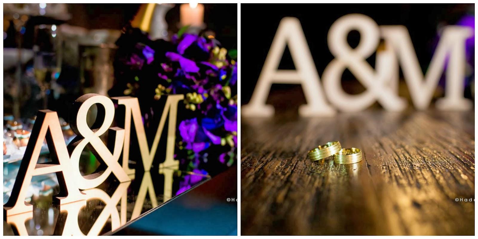 letras mdf - foto das alianças - bouquet