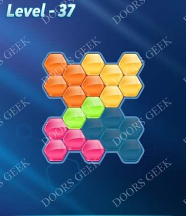 Block! Hexa Puzzle [Intermediate] Level 37 Solution, Cheats, Walkthrough for android, iphone, ipad, ipod