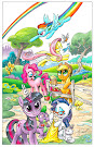 My Little Pony Friendship is Magic #1 Comic Cover Prototype Variant
