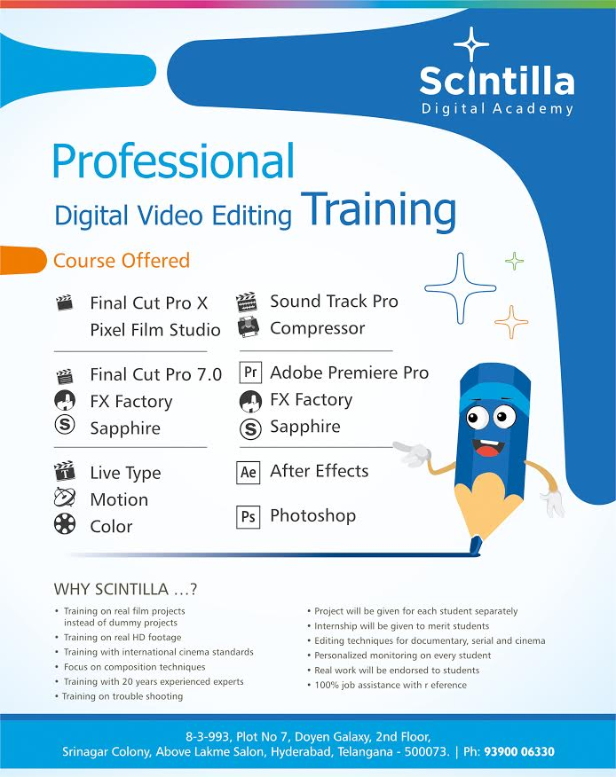 BEST VIDEO EDITING TRAINING IN HYDERABAD: BEST FCP AVID TRAINING IN