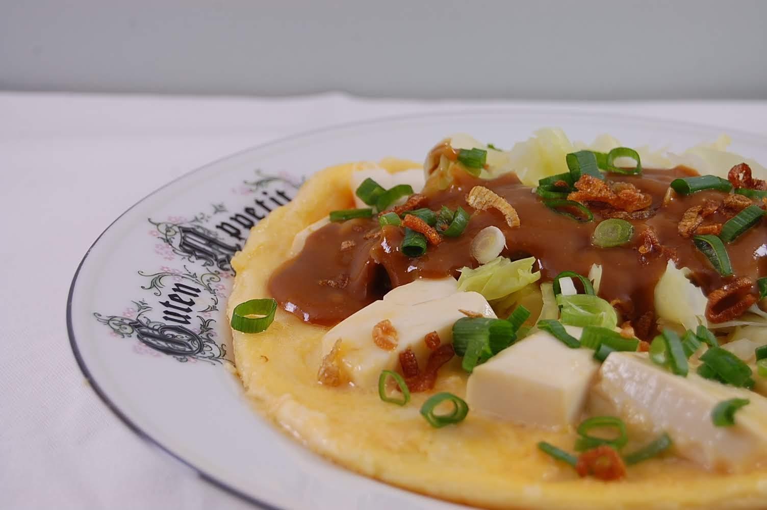 Rezept Tahu Telur, Tofu und Ei mit Erdnusssauce indonesisch kochen