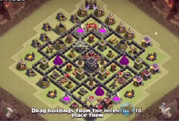 Base War TH 8 di Clash Of Clans Terbaru 2017 Tipe 26