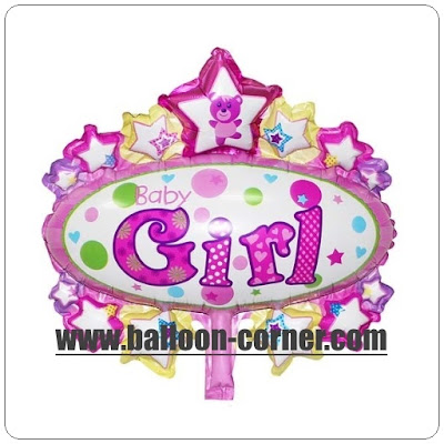 Balon Foil Oval Baby Girl Mini
