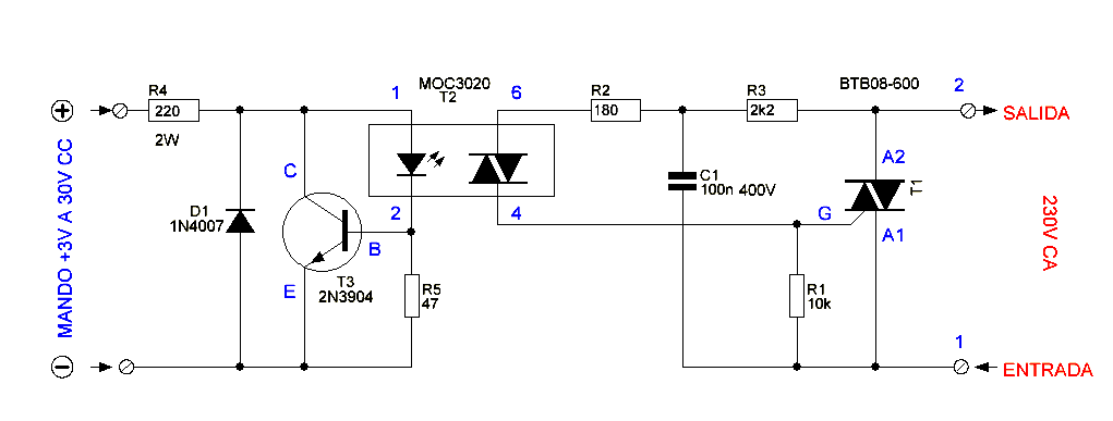 Solid State Relay Circuit Diagram - Electronic Circuit