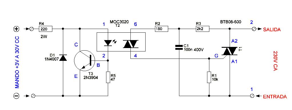 solid state relay circuit diagram diy circuit rh avecircuits blogspot com Relay Circuit Schematic 12 Volt Relay Circuit Diagram