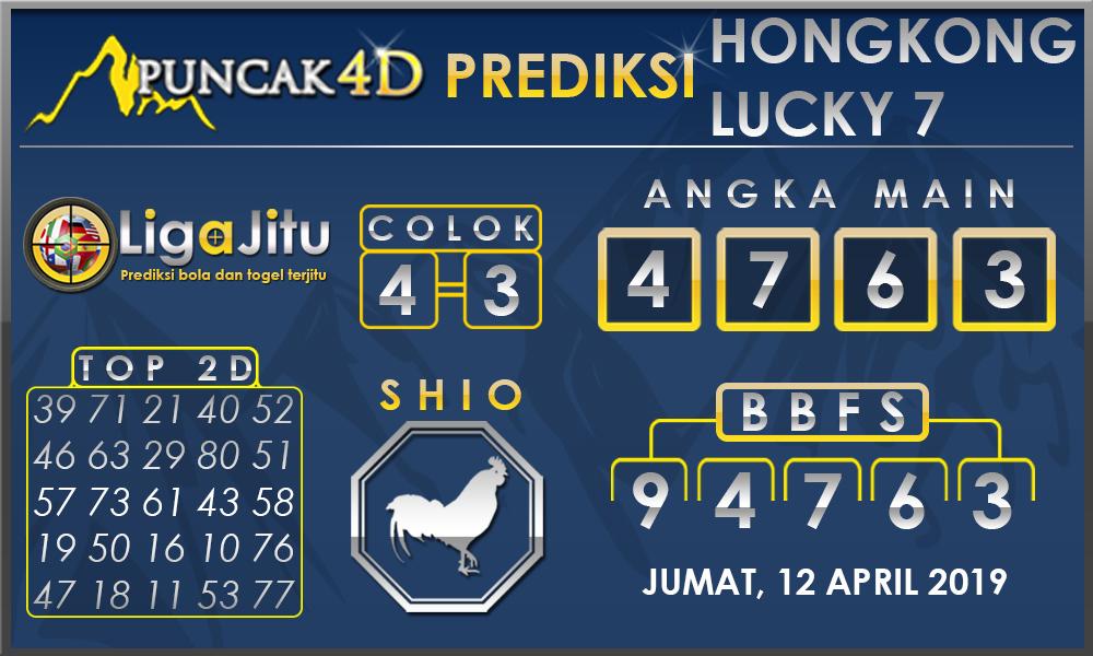 PREDIKSI TOGEL HONGKONG LUCKY7 PUNCAK4D 12 APRIL 2019