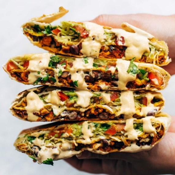Vegan Crunchwrap Supreme #HealthyFood #VeganRecipe