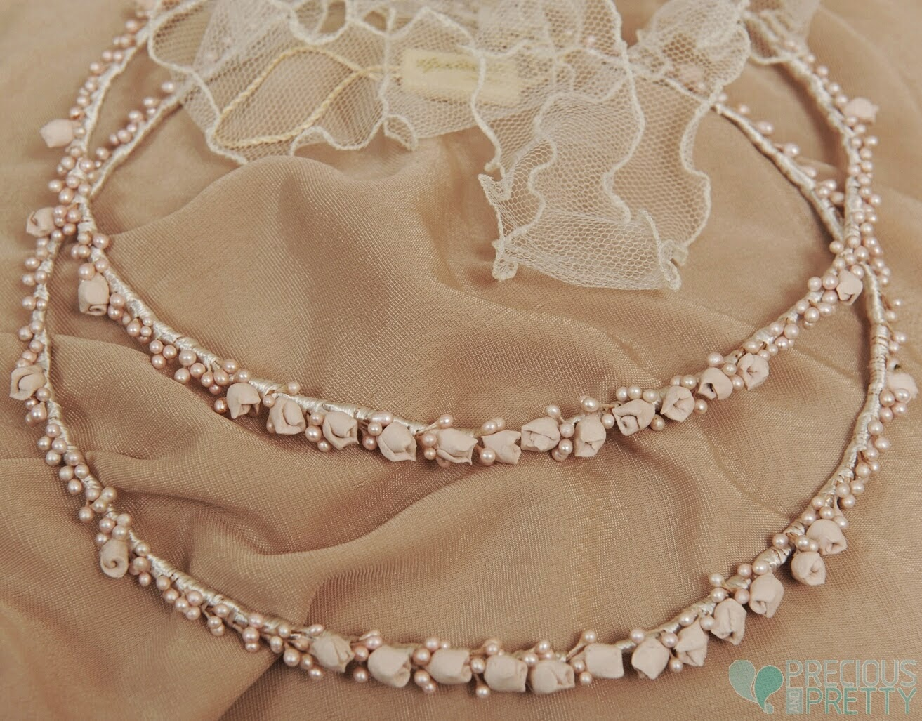 Dusty pink bridal flower crowns 1064