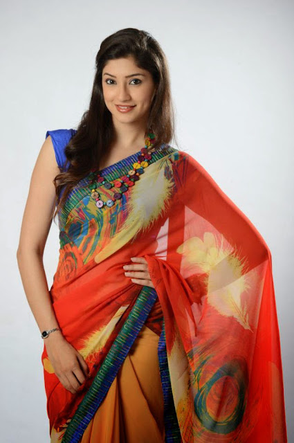 Tanvi Vyas Latest Saree Stills