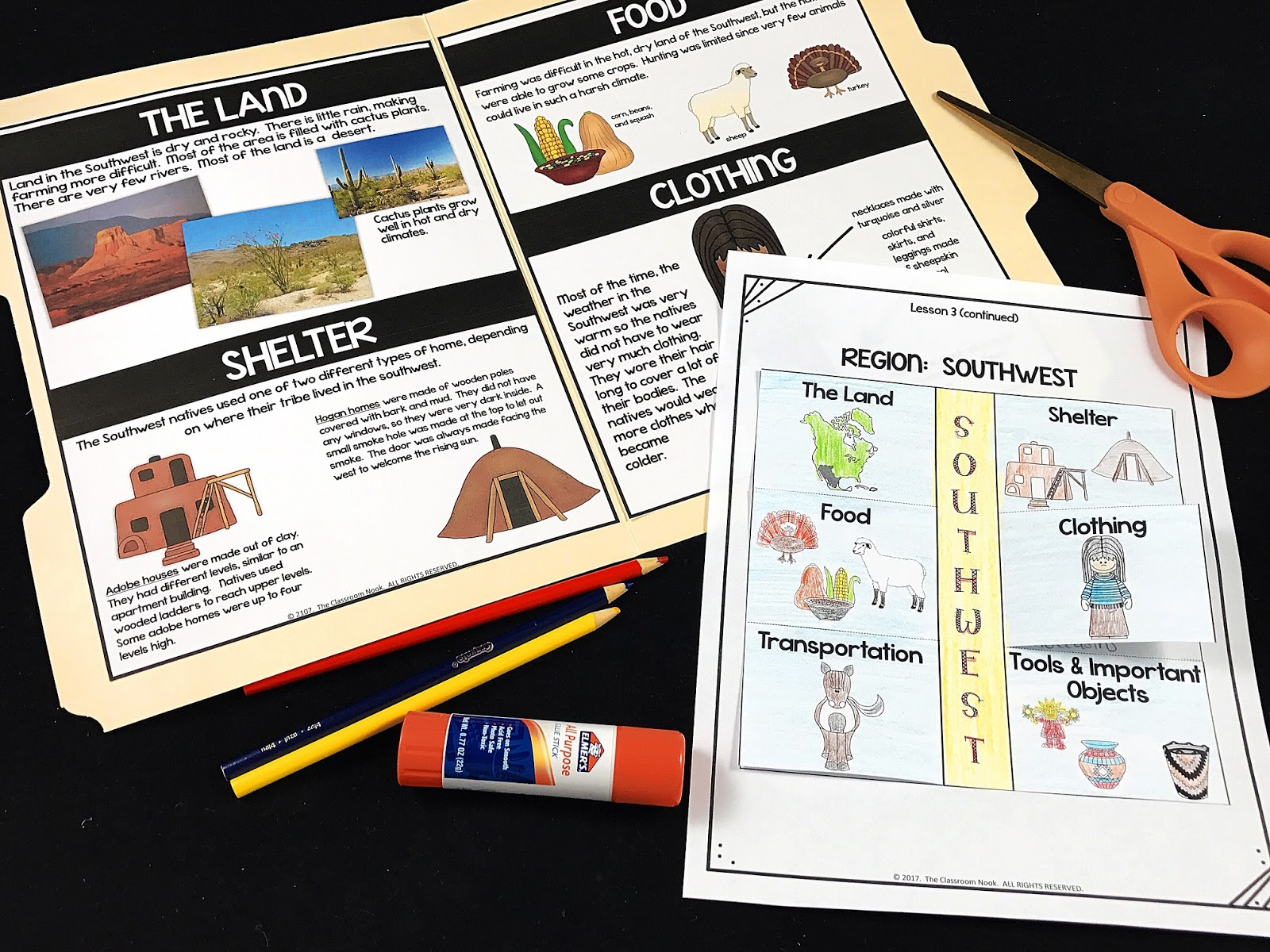 Helps students learn about Native American regions of North America through discovery learning folders.