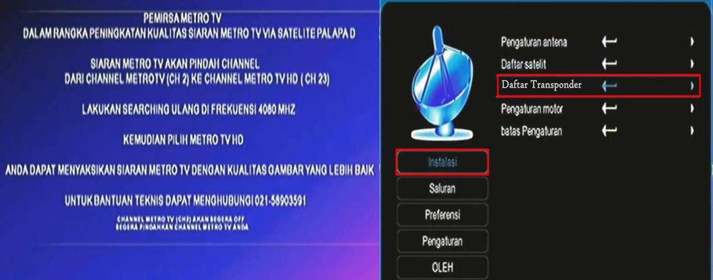 Cara Mencari Channel Metro TV HD Mpeg2 dan Mpeg4 - Menit info