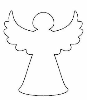 Molde de Ángel con las Alas Extendidas.
