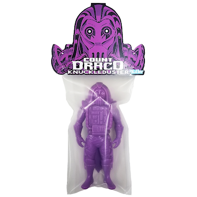 Count Draco Knuckleduster Neon Purple Edition Soft Vinyl Figure by Killer Bootlegs