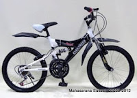 2 Sepeda Gunung Evergreen Ranger Full Suspension 20 Inci