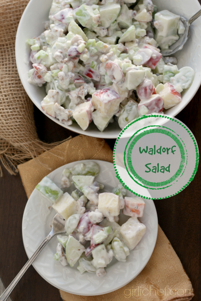 Waldorf Salad inspired by Pieces of April | #FoodnFlix