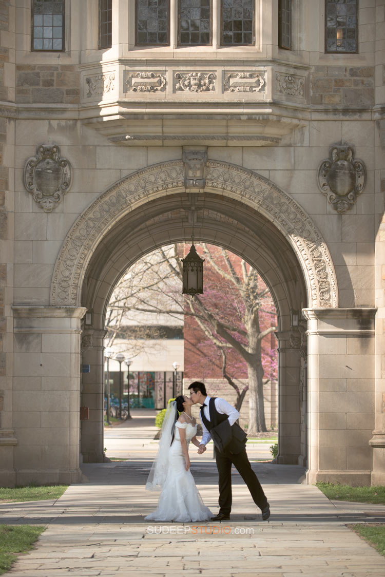 Wedding Portraits University of Michigan Art Museum - Sudeep Studio Ann Arbor Wedding Photographer