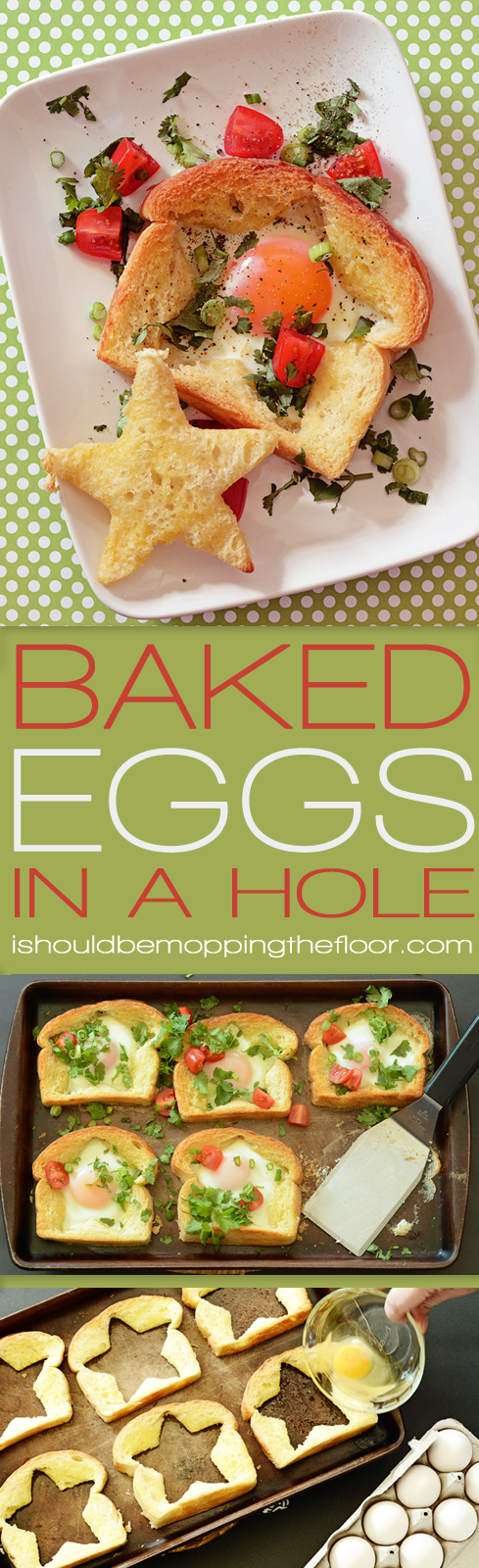 Baked Toads in a Hole {you may call them Baked Eggs in a Hole} | A baked twist on a classic breakfast: easier and less messy to prepare this way.