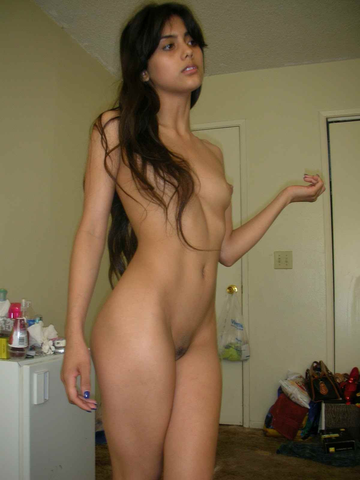 Indian sexy wife standing naked — 6