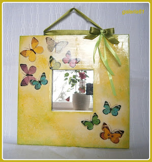 lustro decoupage - tutorial, DIY