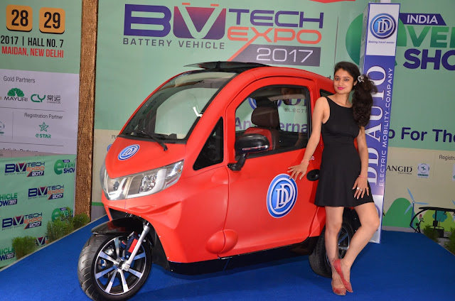 Personal 3 wheeled  E-Vehicle launched  by DD Auto  at India E-vehicle & BV TECH Expo from March 27-29 at Pragati Maidan