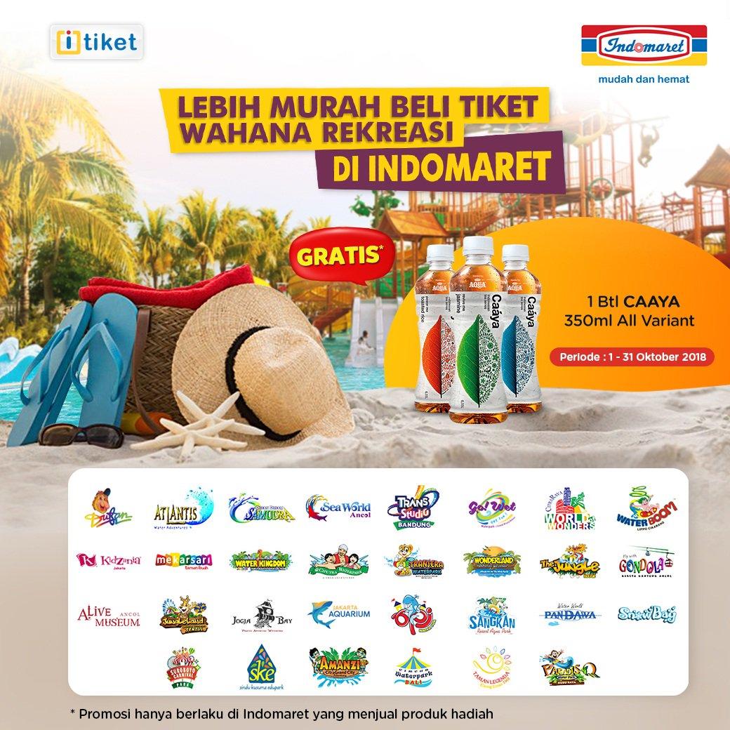 Indomaret - Promo Beli Tiket Wahana Gratis 1 Botol CAAYA 350 ml All Variant