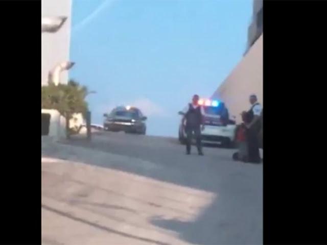 VIDEO; 5 Sicarios intentan dar ejecución a una persona tras darle en la cabeza en Playa del Carmen se salva de milagro, inician operación Kukulkan y los atrapan