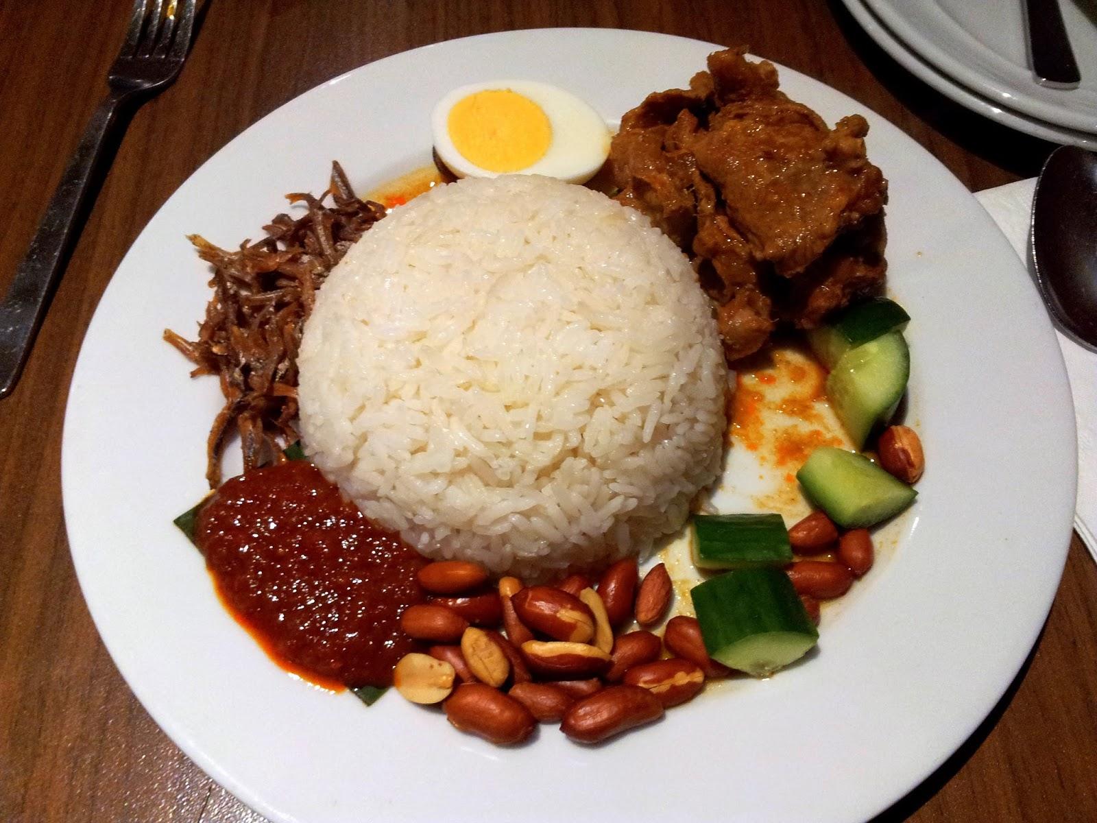 Malaysia Signature Food Nasi Lemak Dish