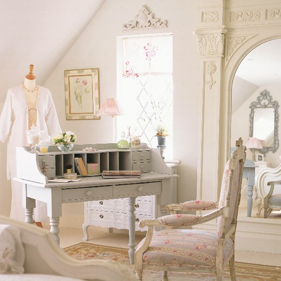 Dom vintid stil shabby chic - Romantic living room ideas for feminine young ladies casa ...