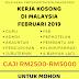 Kerja Kosong di Malaysia Februari 2019 - Kelayakan PMR/SPM/Diploma/Ijazah