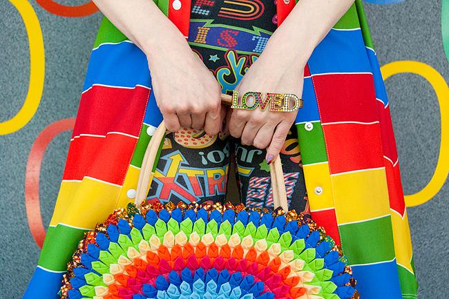 CeliaB, rainbow fashion, summer look