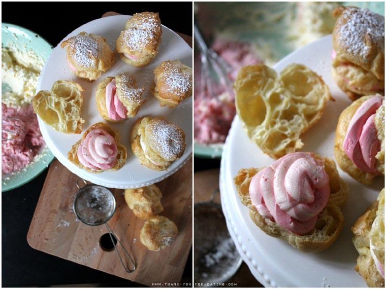 Rezept für süße Windbeutel - Pastel Creampuffs