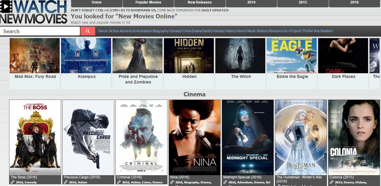 Free Movie Sites 2018 No Sign Up