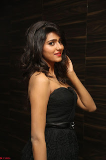 Shalu Chourasiya in spicy Sleeveless Strapless Black Top at O Pilla Nee Valla Movie Audio Launch Feb 2017 091.JPG